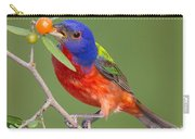 Painted Bunting Eating Granjeno Berry Carry-all Pouch