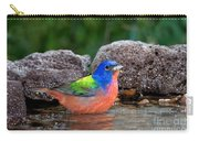 Painted Bunting Passerina Ciris In Water Carry-all Pouch