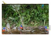 Painted Buntings Bathing Carry-all Pouch