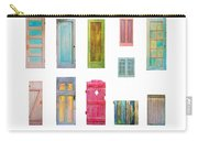 Painted Doors And Window Panes Carry-all Pouch