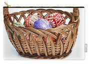 painted Easter Eggs in wicker basket Carry-all Pouch
