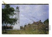 Painted Fort Gratiot Light House Carry-all Pouch