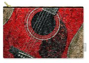 Painted Guitar - Music - Red Carry-all Pouch