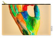 Painted Hand With Ok Sign Carry-all Pouch