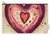 Painted Heart Carry-all Pouch
