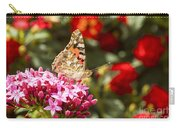 Painted Lady Butterfly Carry-all Pouch by Eyal Bartov