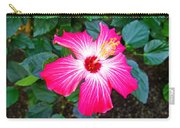 'painted Lady' Hibiscus Carry-all Pouch