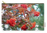 Painted Mountain Ash Berries Carry-all Pouch