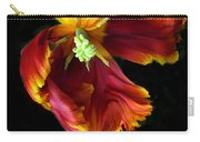 Painted Parrot Petals Carry-all Pouch