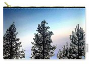 Painted Pine Tree Trio Carry-all Pouch