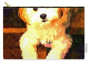 Painted Puppy Carry-all Pouch