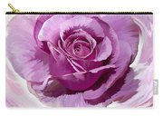 Painted Purple Rose  Carry-all Pouch