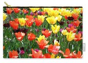 Painted Sunlit Tulips Carry-all Pouch