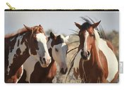 Painted Wild Horses Carry-all Pouch
