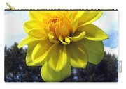 Painted Yellow Dahlia Carry-all Pouch