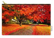 Painterly Autumn Path Carry-all Pouch