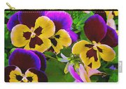 Painterly Purple Pansy Carry-all Pouch