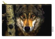 Painting ... Wolf In Aspen Grove Carry-all Pouch