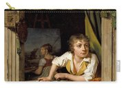 Painting And Music. Portrait Of The Artists Son Carry-all Pouch