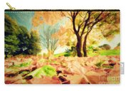 Painting Of Autumn Fall Landscape In Park Carry-all Pouch