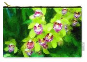 Painting Of Green Orchids Carry-all Pouch