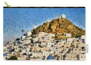 Painting Of Ios Town Carry-all Pouch