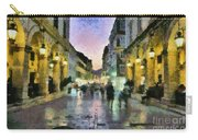 Old City Of Corfu During Dusk Time Carry-all Pouch