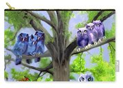 Painting Of Owls And Birds Nest In Tree Carry-all Pouch