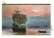 Painting Of The Ship The Mayflower 1620 Carry-all Pouch