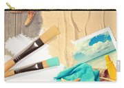 Painting Summer Postcard Carry-all Pouch by Amanda Elwell