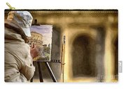 Painting The Colosseum Carry-all Pouch by Stefano Senise