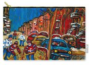 Paintings Of Montreal Hockey City Scenes Carry-all Pouch