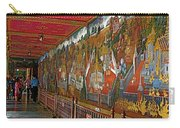 Paintings On Wall Of Middle Court Hallof Grand Palace Of Thailand Carry-all Pouch
