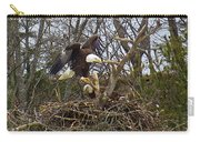 Pair Of Bald Eagles At Their Nest Carry-all Pouch