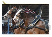 Pair Of Budweiser Clydesdale Horses In Harness Usa Rodeo Carry-all Pouch