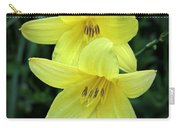 Pair Of Lemon Lilies Carry-all Pouch