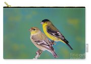 Pair Of Lesser Goldfinches Carry-all Pouch