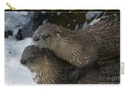 Pair Of River Otters   #1301 Carry-all Pouch