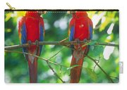 Pair Of Scarlet Macaws Carry-all Pouch