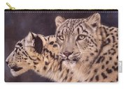 Pair Of Snow Leopards Carry-all Pouch