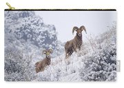Pair Of Winter Rams Carry-all Pouch