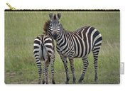 Pair Of Zebra Carry-all Pouch