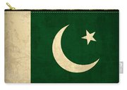 Pakistan Flag Vintage Distressed Finish Carry-all Pouch by Design Turnpike