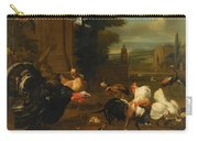 Palace Garden Exotic Birds And Farmyard Fowl Carry-all Pouch