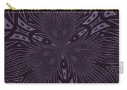 Pale Aubergine And Eggplant Abstract Pattern Kaleidoscope Carry-all Pouch
