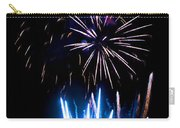 Pale Blue And Red Fireworks Carry-all Pouch