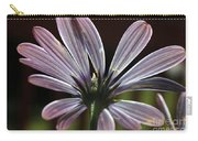Pale Blue Flower Backlit Carry-all Pouch