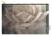 Pale Rose Photoart Carry-all Pouch by Debbie Portwood