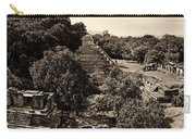 Palenque From The Jungle Panorama Sepia Carry-all Pouch