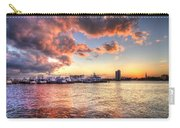 Palm Beach Harbor With West Palm Beach Skyline Carry-all Pouch by Debra and Dave Vanderlaan